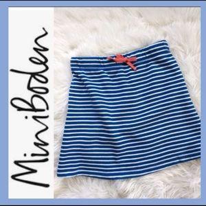 Mini Boden Striped Skirt